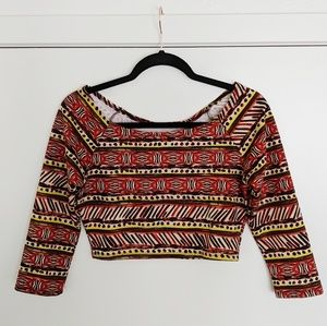 Ambiance || Patterned Crop Top